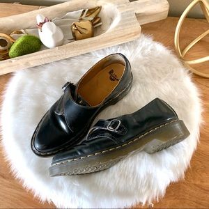 Dr. Martens Black Leather pointy Oxfords Shoes